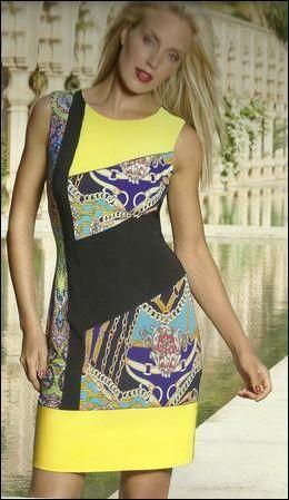 Joseph Ribkoff Dress   Flattering   Spring http://www.facebook.com/ASPIRATIONS   Summer 2014 Collection   #josephribkoff #fashion