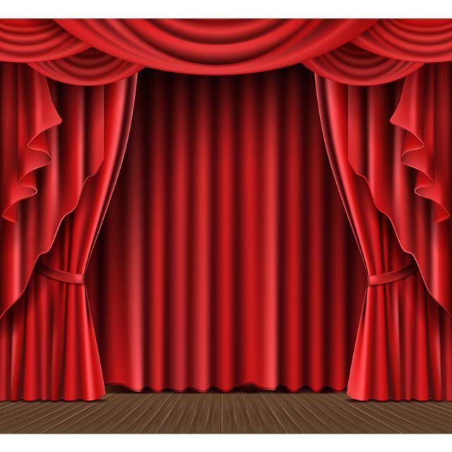 Stage Curtain Realistic Vector المسرح أحمر ستارة Png والمتجهات للتحميل مجانا Imagenes De Cortinas Cortinas Rojas Cortinas
