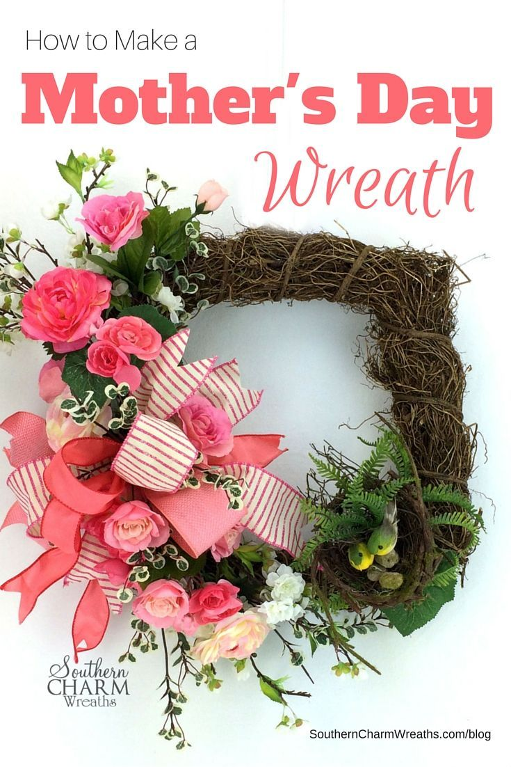 Mother's Day Gift idea, how to make a Mother's Day Wreath using silk flowers and ribbon. In this video, I show you step-by-step how to handcraft a beautiful floral swag and attach it to a grapevine wreath.