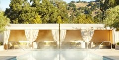 Solage Calistoga Resort in Napa Valley.  Spa Jacuzzi, warm mud baths, and mineral-packed soaks!