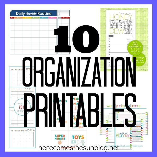 10 Organization Printables This website has so many printables for your life planner. I need to really search this site.