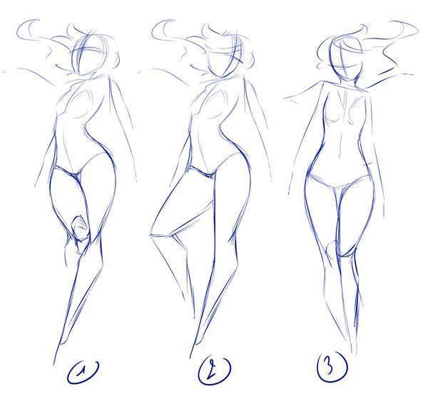 Dynamic hair female poses