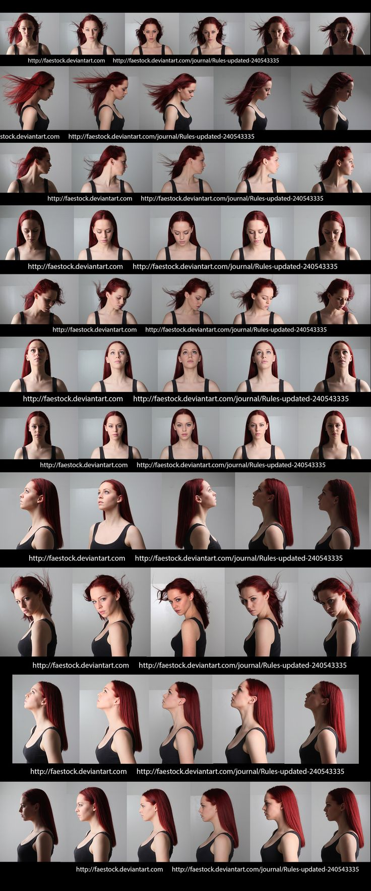 Female face angles & lighting reference.    http://faestock.deviantart.com/