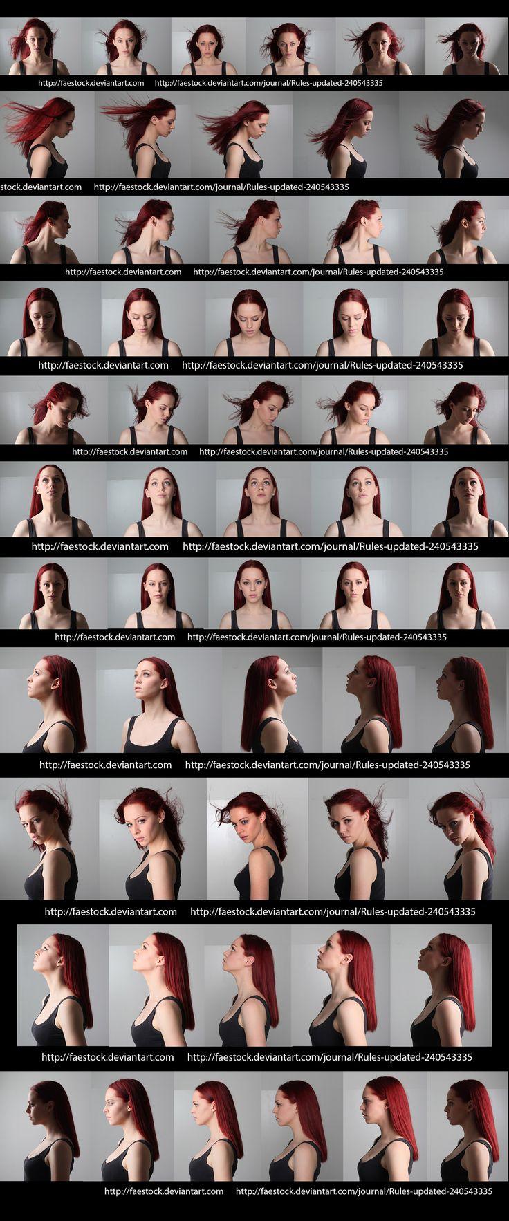 Female face angles & lighting reference. http://faestock.deviantart.com/