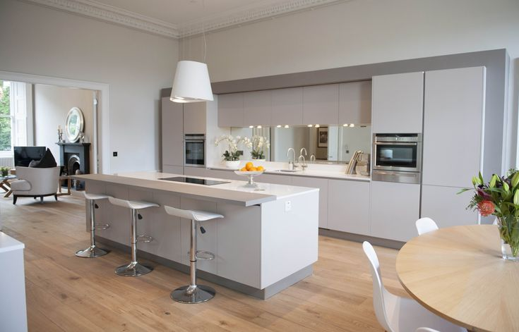 Development Direct, Edinburgh. Neff kitchen appliances - Microwave combination oven – C57M70N3GB. Extra wide induction hob – T41D90X2. Neff Slide&Hide® oven – B45M52N3GB.