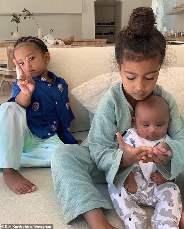 Kim Kardashian Shares New Photos Of Fourth Child Psalm Kardashian Kids Jenner Kids Kim Kardashian