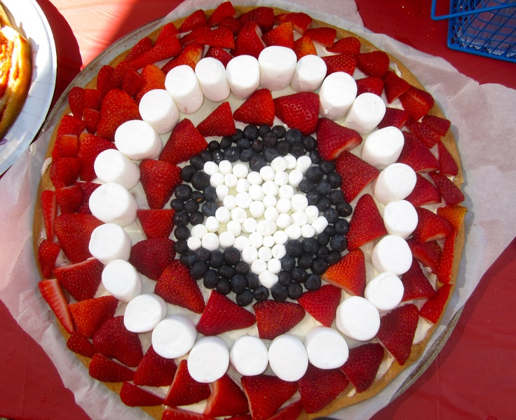 Captain America S Shield Fruit Pizza Party Pinterest