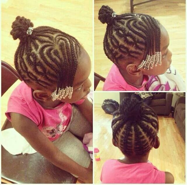 Brilliant 1000 Images About Cute Protective Styles For Little Girls On Hairstyles For Women Draintrainus
