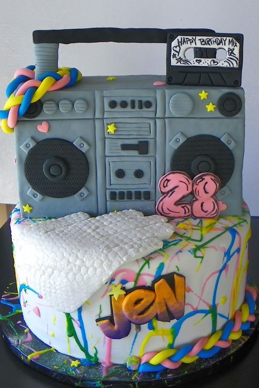 80's cake- totally awesome! Lol