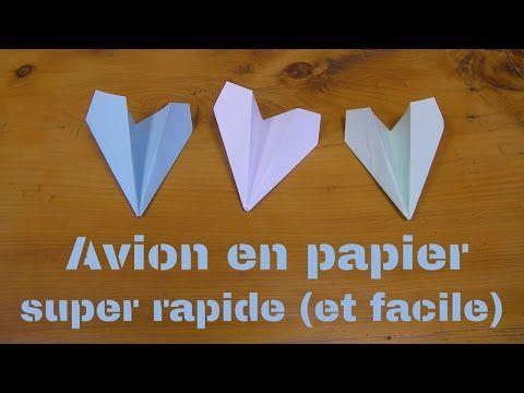 Avion en papier super facile