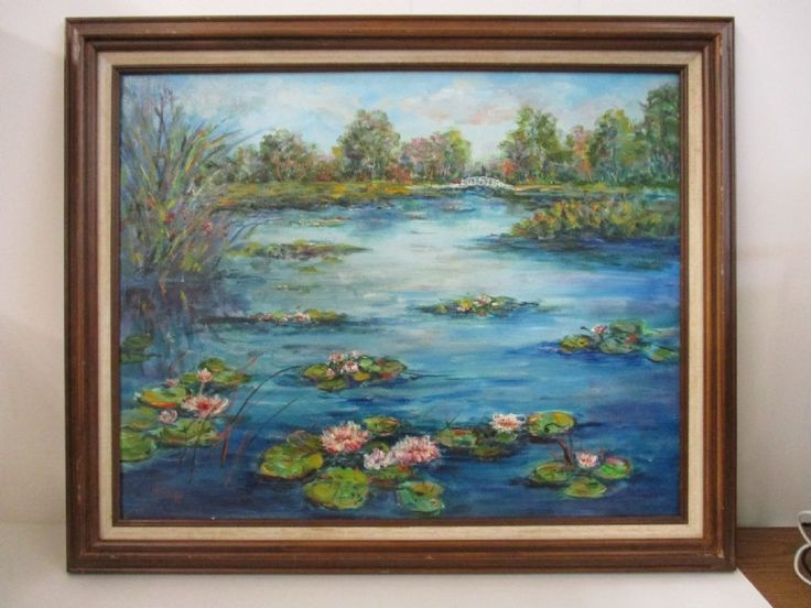 June Anderson Evanoff Oil Painting w/Frame