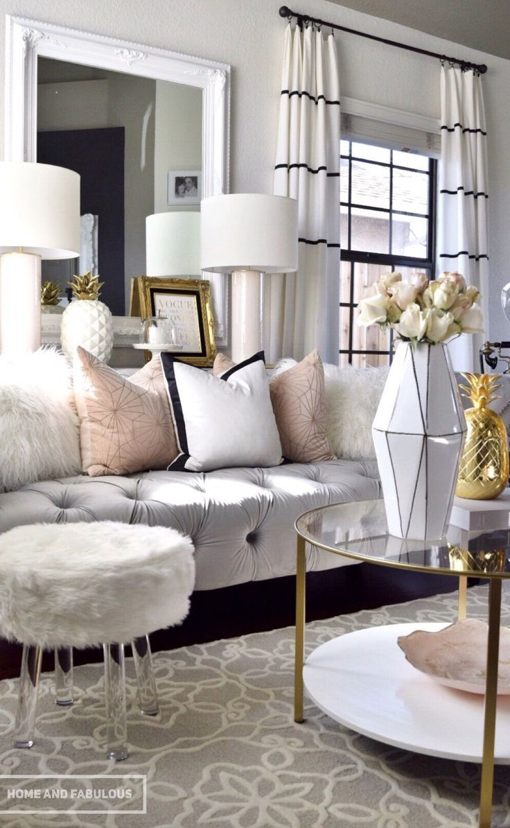 20 Living Room Curtains Ideas - Window Drapes for Living ...