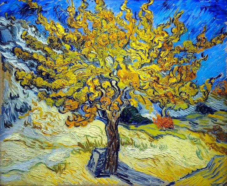 Mulberry Tree, Vincent Van Gogh, 1889.