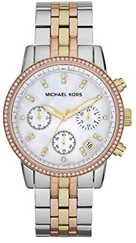 Michael Kors Womens Ritz TriTone Watch MK5650 ** See this great product.Note:It is affiliate link to Amazon.