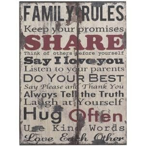 Family Rules Sign - Amour Decor