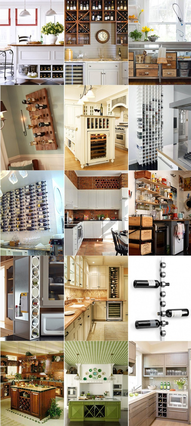 Creative ideas to store your wine. 2