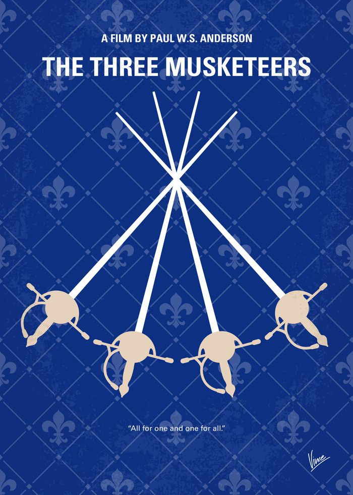 The Three Musketeers (2011) ~ Minimal Movie Poster by Chungkong #amusementphile