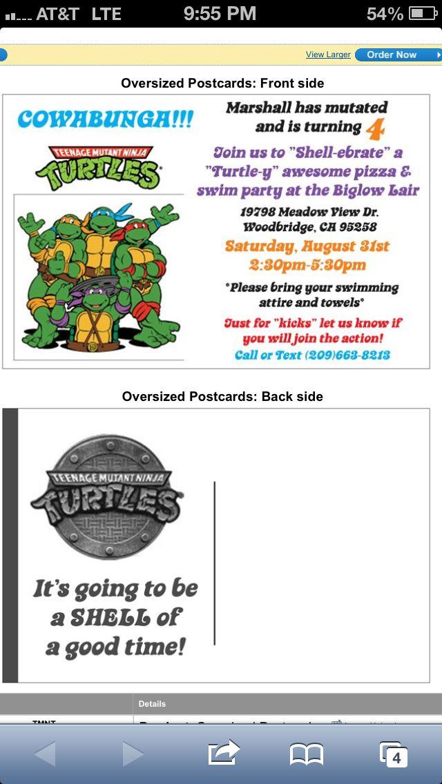 144 best Ninja Turtle Birthday Party images on Pinterest | Ninja ...