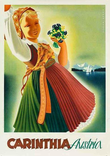 Vintage Travel Poster - Carinthia - Austria - 1950's.