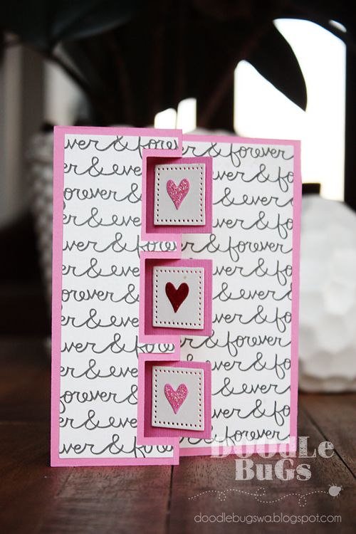 Doodlebugs: Sizzix- Triple Square Flip-its Card