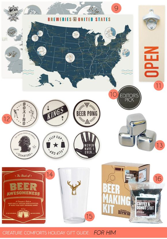 Creature Comforts Holiday Gift Guide: ForHim | Links for all products can be found on Creature Comforts Blog