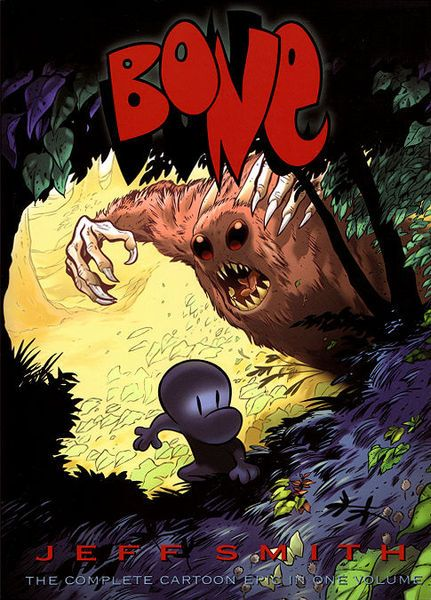 """Bone"" --graphic novel recommended by our teen librarian   http://www.kclibrary.org/blog/teen-blog/bone-pick-book-review-bone-jeff-smith"