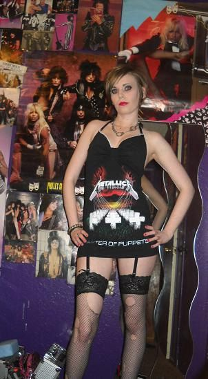 Want this Metallica tank top. Would not wear it as a dress like her..