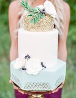 37. Don't be shy! We know you love this textured ombre cake in all its simplicity! There are tons of Lavender Wedding Ideas here captured by Kristyn Hogan with cake by Patty Cakes.