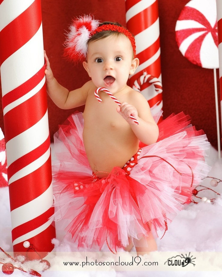 PEPPERMINT SWEETIE Holiday Tutu - Perfect for Holidays, Photo Prop, Christmas Pictures, Recitals, Winter Birthdays (Sizes NB - 24 months). $25.00, via Etsy.