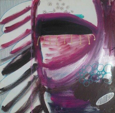 """""""an Angel"""" 50 x50 cm Acryllic and tusch on canvas"""