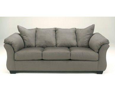 Contemporary Plush Sofa   Grey   Sam Levitz Furniture