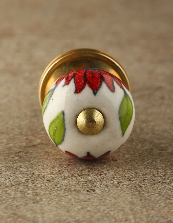 Pin On S, Hand Painted Round Cabinet Knobs