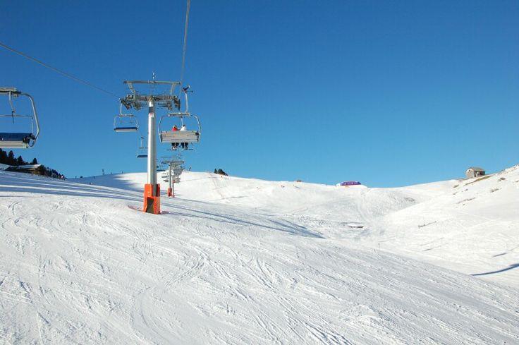 Ski route from Obereggen to Pampeago