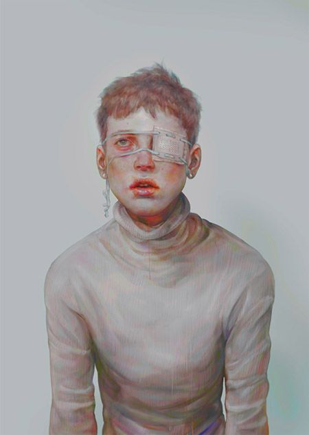 Digital Paintings by 非(hi). *非(hi) is a Tokyo-based artist whose digital paintings depict mostly gaunt young men in surreal states of mental anguish or physical injury. His subjects are inspired by niche models, such as Jacob Morton, whose pictures he gathers off the internet.