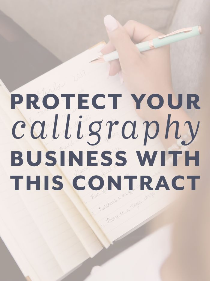 Are you a custom calligrapher or stationer? Protect your calligraphy business with a strong client agreement from The Contract Shop! This contract template is perfect for wedding calligraphers, wedding stationary professionals, and professional hand letterers. #afflink #thecontractshop #contractsforcreatives #legaltipsforcreatives #contracts #creativeentrepreneurs #smallbusinesses #legaltips