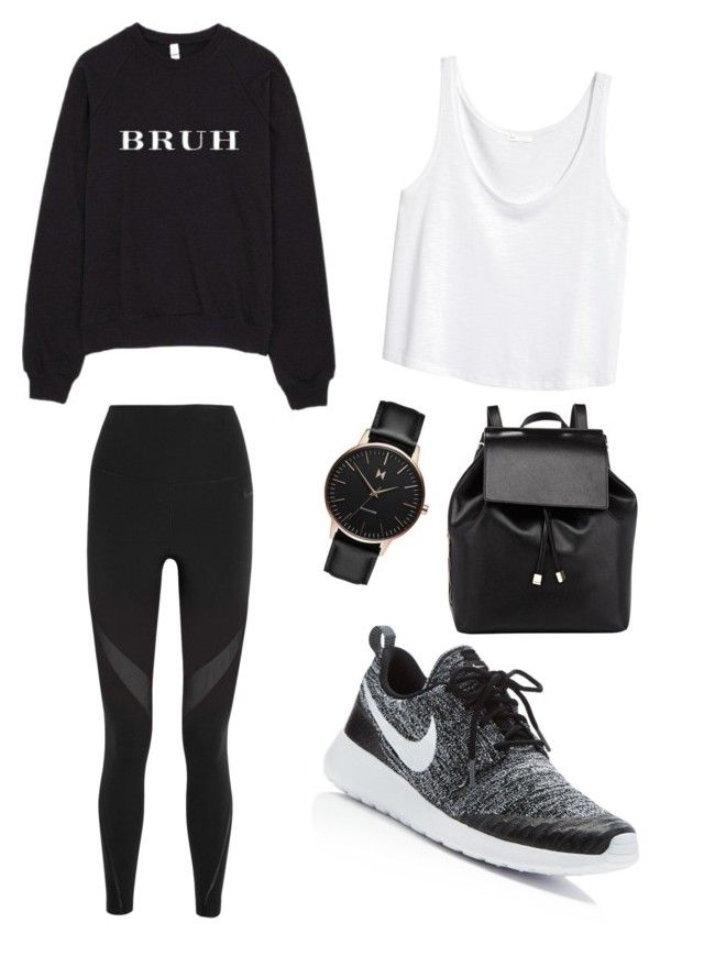 """""""Lazy school day"""" by sarahlin-i on Polyvore featuring NIKE, Barneys New York and MVMT"""