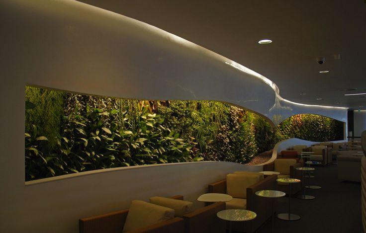 Vertical Garden Design Ideas: Office Waiting Room Vertical