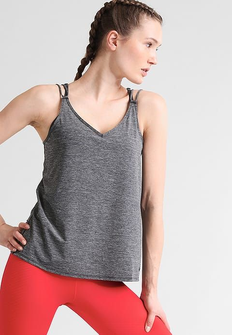 Nike Performance Top - black/heather - Zalando.it