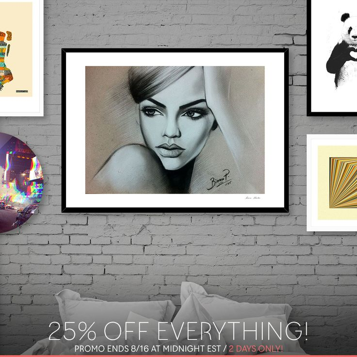 25% OFF all my art today & tomorrow only!   >https://www.curioos.com/biancaparaschivart/promo
