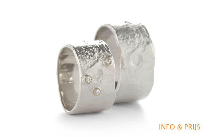 Brede trouwringen in zilver