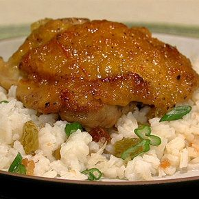 Clinton Kelly's Ginger-Orange Chicken with Coconut Rice