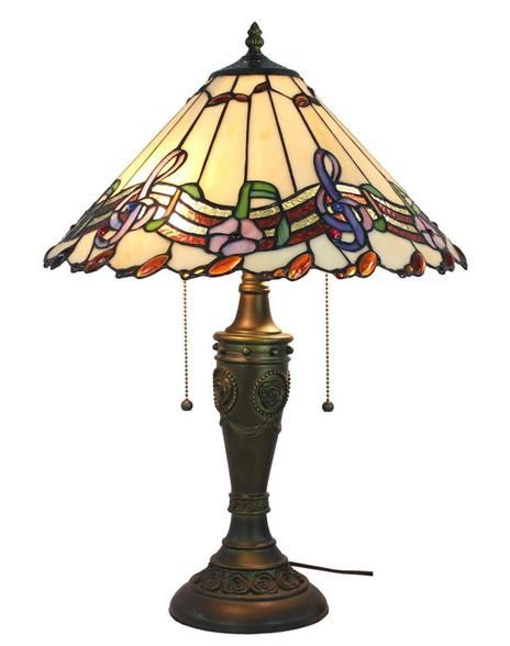 Musical Notes Tiffany Style Table Lamp 24 Inches Tall at DelightsVille.net