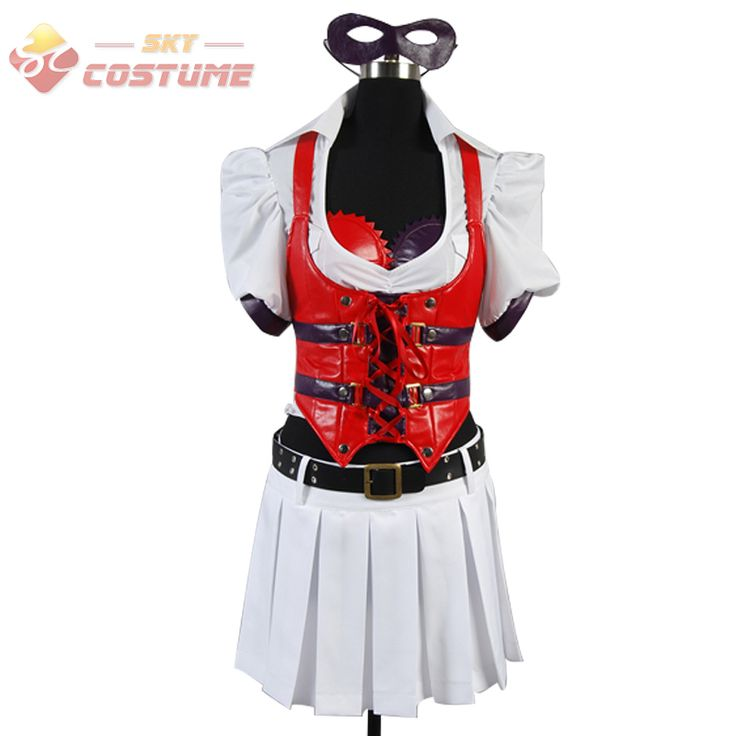>> Click to Buy << Batman Arkham Asylum Harley Quinn Harleen F.Quinzel Halloween Cosplay Dress Costumes Outfit For Adult Women Custom Made #Affiliate