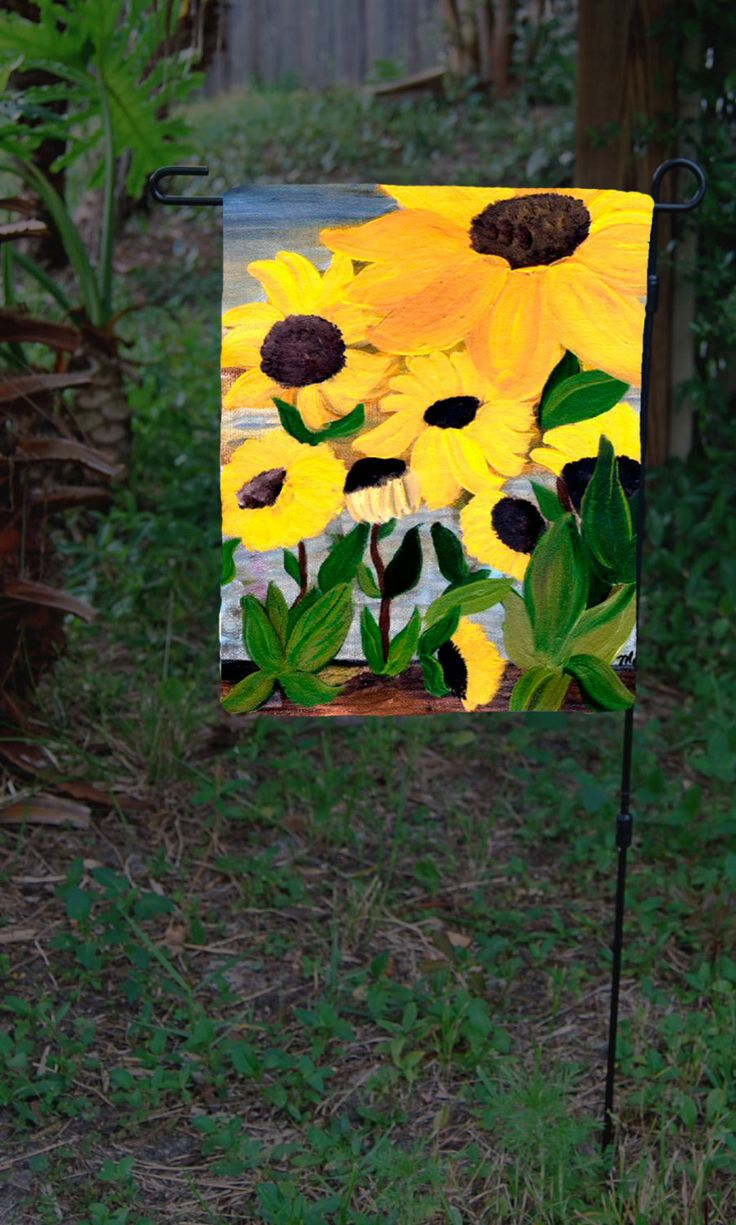 Sunflowers Garden Flag From Art By Maremade On Etsy, $19.99