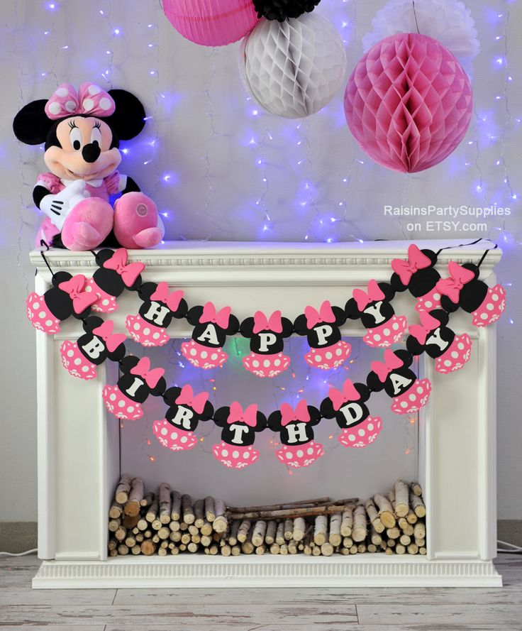 Minnie Mouse Birthday Decorations Pink