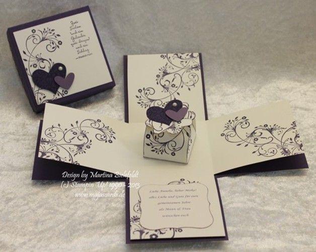 Geldgeschenke - Magic Box zur Hochzeit - ein Designerstück von MaJas-Cards bei DaWanda