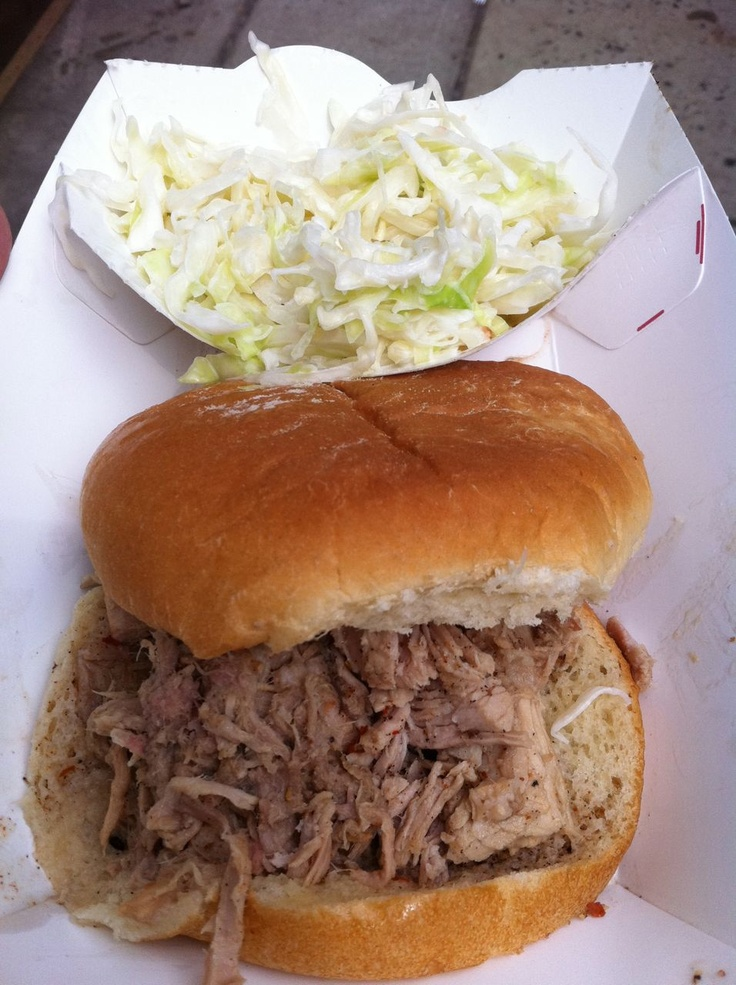 Pulled Pork BBQ Sandwhich at Joe's BBQ in Whiteville, NC. Make sure ...