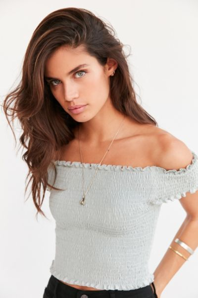 Kimchi Blue Rose Smocked Off-The-Shoulder Top - Urban Outfitters