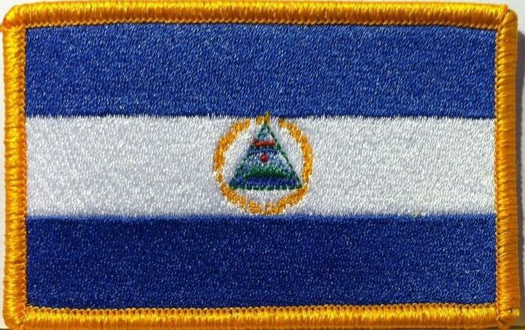 NICARAGUA Flag Embroidered Iron-On Patch Central America Military Morale Emblem