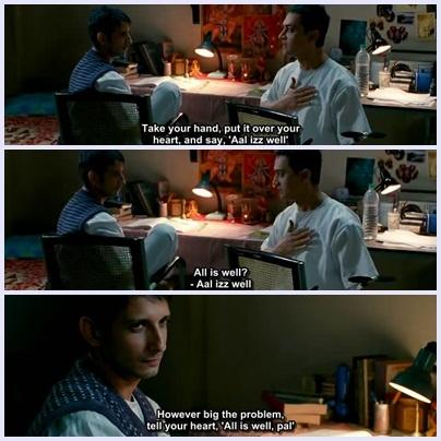 3 Idiots.Film çok güzel.Filmdeki Rancho(Aamir Khan) nun karakteriyle Bilgenur Mersin'in karakteri aynı HA.